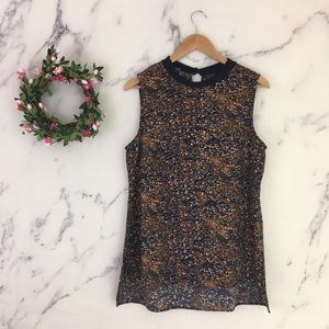 Bobeau Speckled Sleeveless Blouse